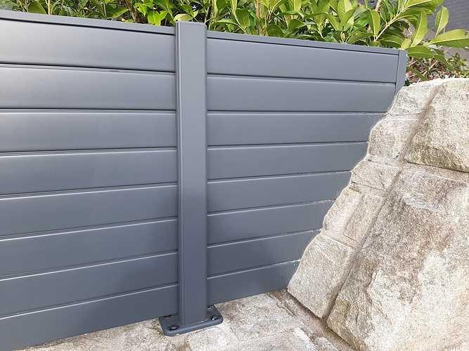 Pose d''une clôture en aluminium sur muret pierre- Trégueux - 22 20210119141113