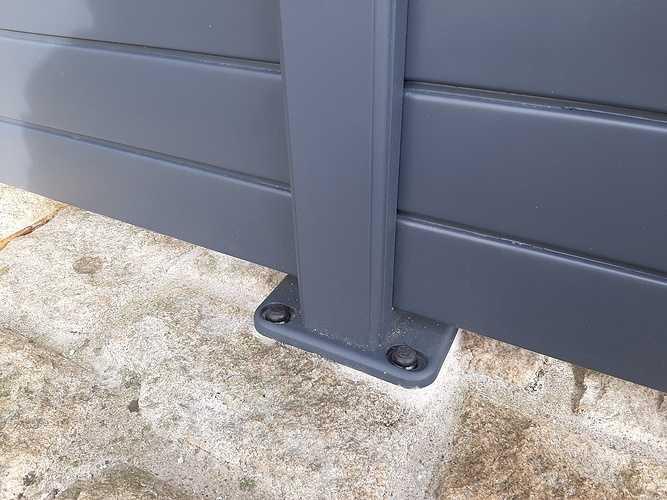 Pose d''une clôture en aluminium sur muret pierre- Trégueux - 22 20210119141128