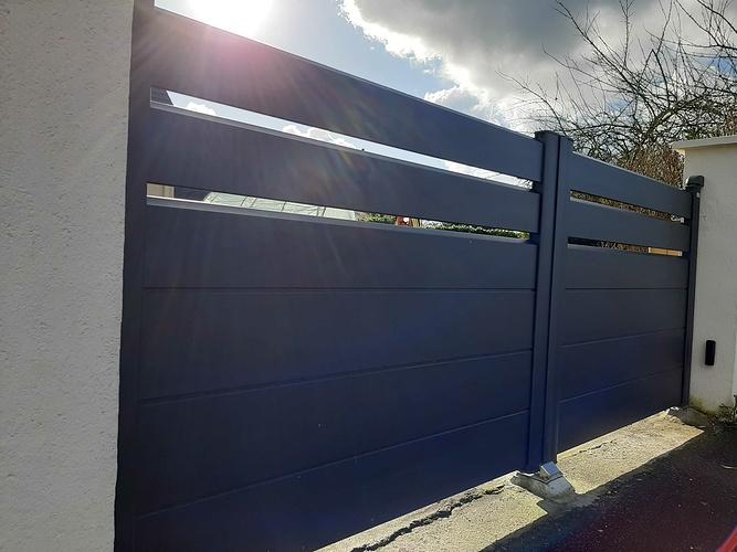 Installation portail et portillon et clôture alu noir sablé - Saint-Rieul 20210205141743