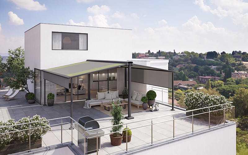 Store- terrasse et balcon pour espaces libres 0