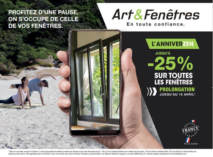AnniverZen Art & Fenêtres :Jusqu''à - 25%* sur toutes les fenêtres 0