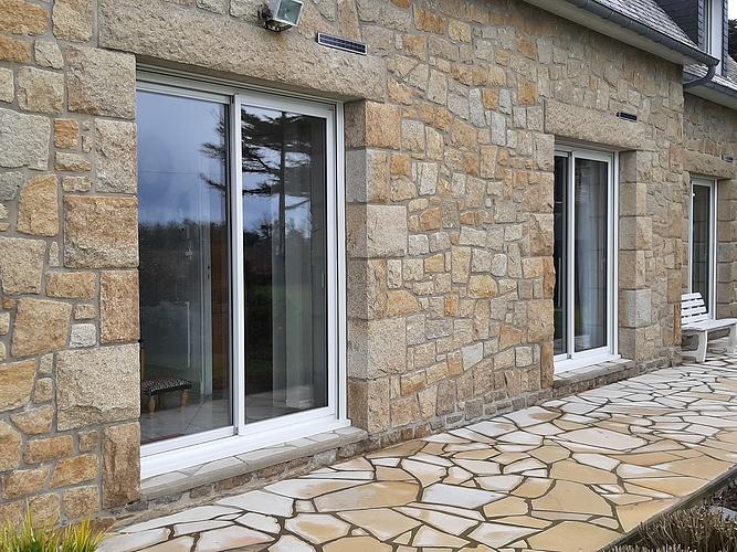 Menuiseries alu - maison en pierre bord de mer - Fréhel 20210311135838