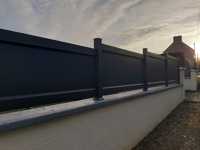 Remplacement portail et portillon PVC par menuiseries alu - installation clôture- Plerneuf 21