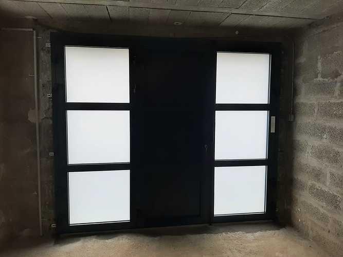 Remplacement porte de garage bois par porte isolante, lumineuse et sécurisante - Pordic 20210525170244