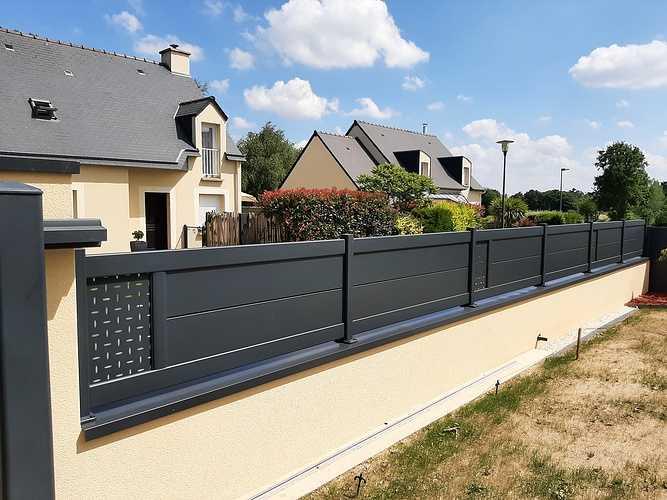 Remplacer portillon et portail en PVC par coulissant en aluminium - Pléneuf Val André 20210609160808