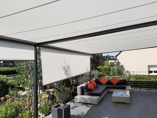 Supprimer le parasol- intégrer protection solaire sur terrasse - Pordic