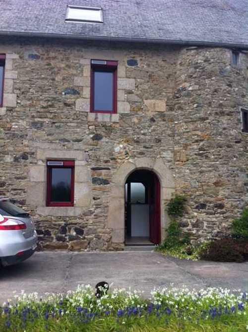 Fenêtre Mixte Alu Bois Et Volet Roulant Solaire Rouge Pourpre Ral 3004