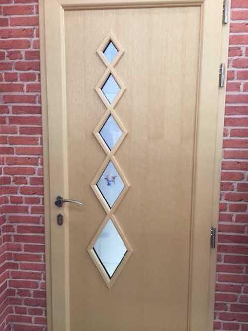 Porte d''entrée mixte alu bois - mensuierie Art et Fenêtres- Plérin losange