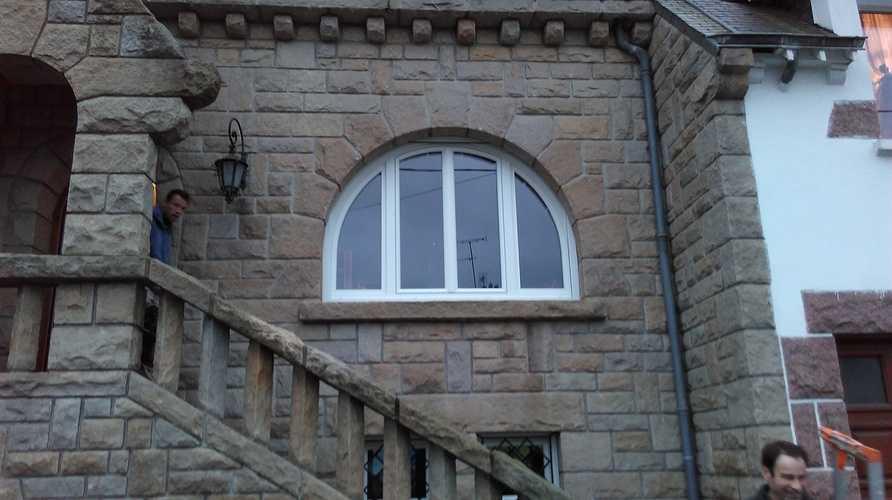 Menuiserie fenêtre PVC blanc cintrée - Saint Brieuc (22 - Bretagne) 0