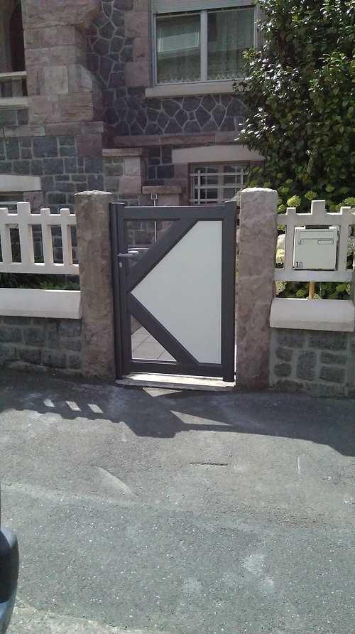 Portillon et portail 2 vantaux -alu bicolor - St brieuc imag02831