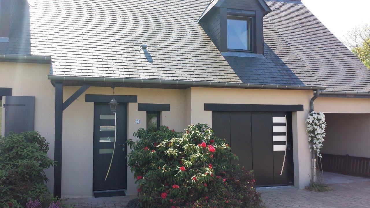 Id e de changement harmoniser votre portail porte de for Portail garage enroulement