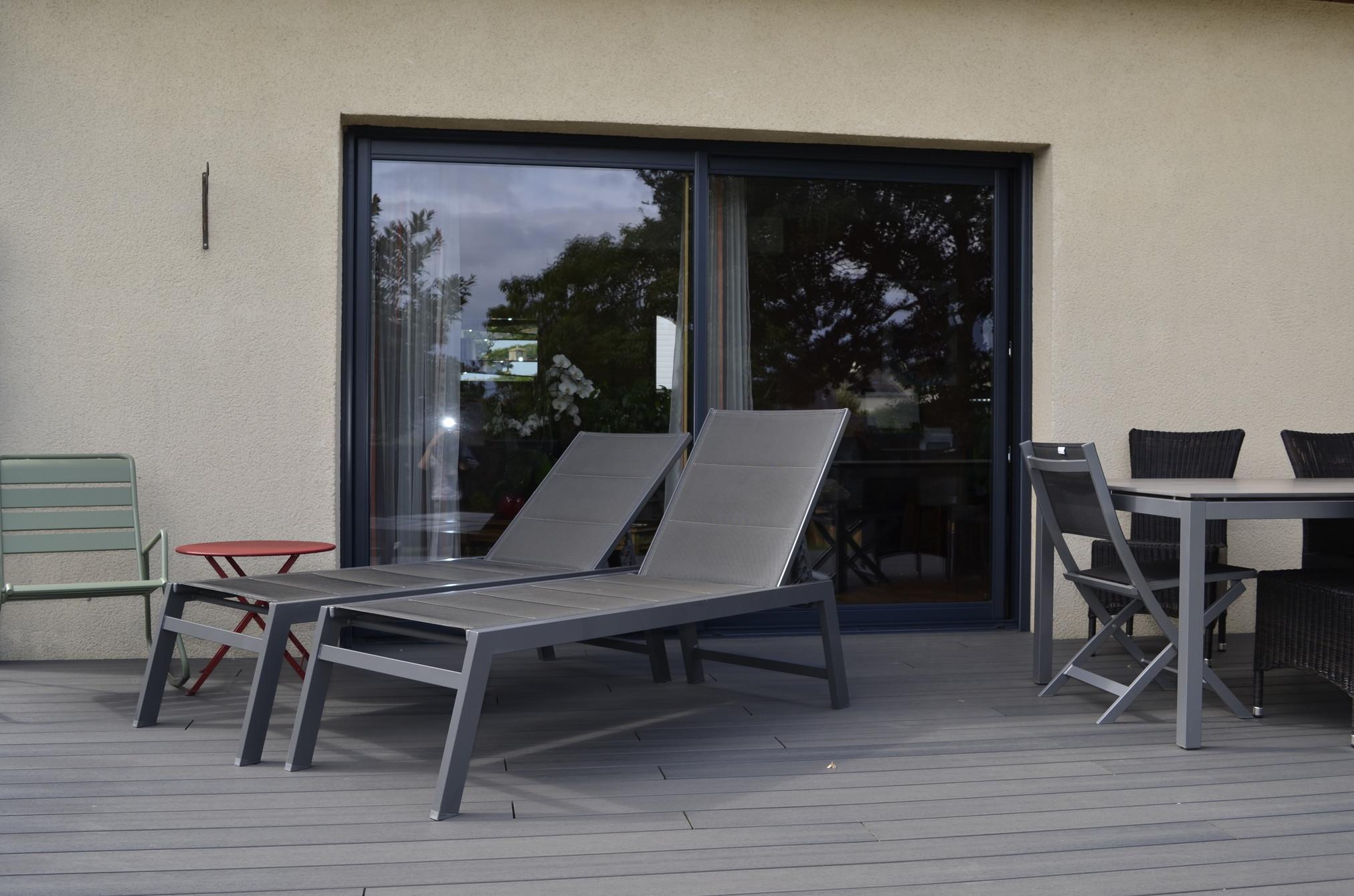 baie vitr e mixte et porte d 39 entr e alu bois maison. Black Bedroom Furniture Sets. Home Design Ideas