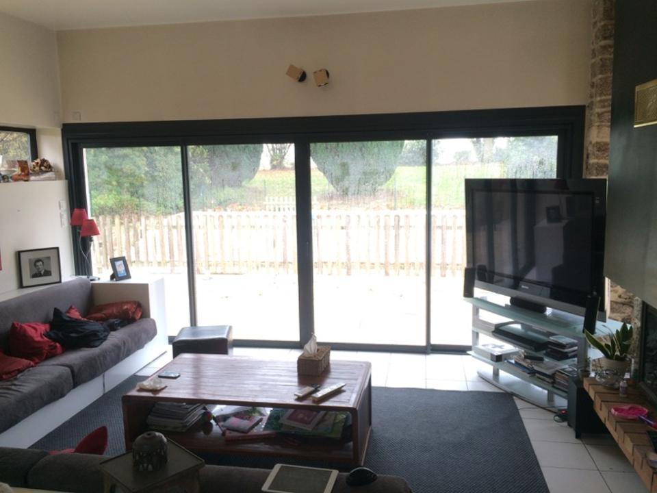 baie vitr e aluminium ral 7016 gris anthracite pose en. Black Bedroom Furniture Sets. Home Design Ideas